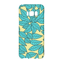 Leaves Dried Leaves Stamping Samsung Galaxy S8 Hardshell Case  by Wegoenart
