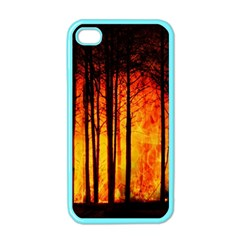 Forest Fire Forest Climate Change Apple Iphone 4 Case (color)