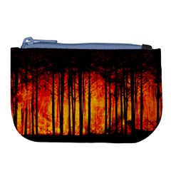Forest Fire Forest Climate Change Large Coin Purse