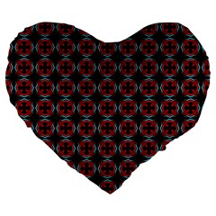 Pattern Design Artistic Decor Large 19  Premium Flano Heart Shape Cushions