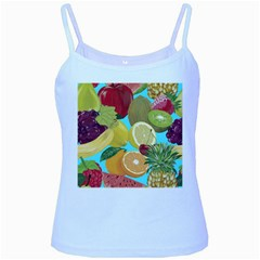 Fruit Picture Drawing Illustration Baby Blue Spaghetti Tank by Wegoenart