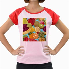 Fruit Picture Drawing Illustration Women s Cap Sleeve T Shirt by Wegoenart