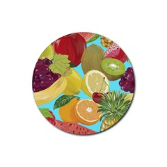 Fruit Picture Drawing Illustration Rubber Coaster (round)  by Wegoenart