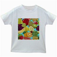 Fruit Picture Drawing Illustration Kids White T Shirts