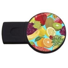 Fruit Picture Drawing Illustration Usb Flash Drive Round (2 Gb)