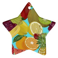 Fruit Picture Drawing Illustration Star Ornament (two Sides) by Wegoenart