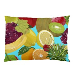Fruit Picture Drawing Illustration Pillow Case (two Sides) by Wegoenart