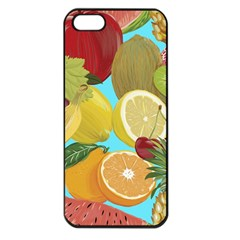 Fruit Picture Drawing Illustration Apple Iphone 5 Seamless Case (black)