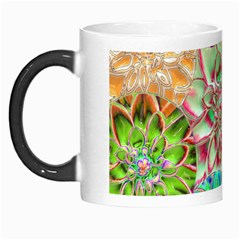 Dahlia Flower Colorful Art Collage Morph Mugs