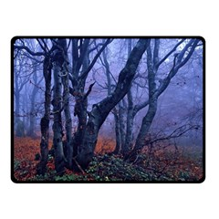 Beeches Autumn Foliage Forest Tree Fleece Blanket (small)