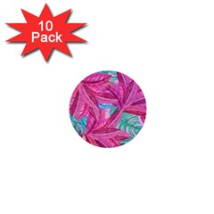 Leaves Tropical Reason Stamping 1  Mini Buttons (10 Pack)