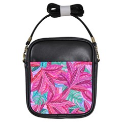 Leaves Tropical Reason Stamping Girls Sling Bag