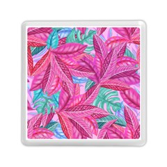 Leaves Tropical Reason Stamping Memory Card Reader (square) by Wegoenart