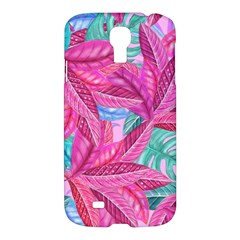 Leaves Tropical Reason Stamping Samsung Galaxy S4 I9500/i9505 Hardshell Case