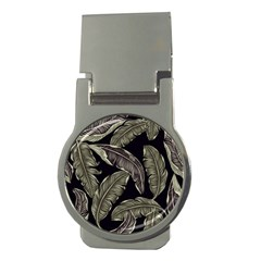 Jungle Leaves Tropical Pattern Money Clips (round)  by Wegoenart