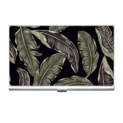 Jungle Leaves Tropical Pattern Business Card Holder