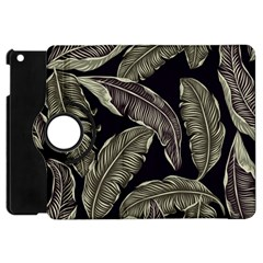 Jungle Leaves Tropical Pattern Apple Ipad Mini Flip 360 Case