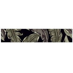 Jungle Leaves Tropical Pattern Large Flano Scarf