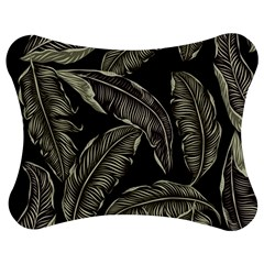 Jungle Leaves Tropical Pattern Jigsaw Puzzle Photo Stand (bow) by Wegoenart