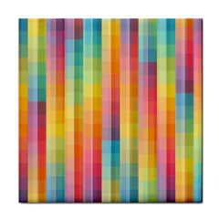 Pattern Background Colorful Abstract Tile Coasters