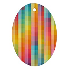 Pattern Background Colorful Abstract Ornament (oval)