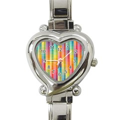 Pattern Background Colorful Abstract Heart Italian Charm Watch