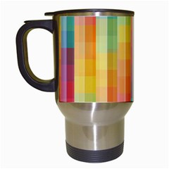 Pattern Background Colorful Abstract Travel Mugs (white)