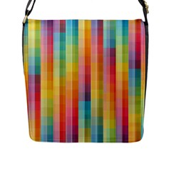 Pattern Background Colorful Abstract Flap Closure Messenger Bag (l)