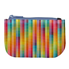 Pattern Background Colorful Abstract Large Coin Purse
