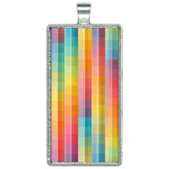 Pattern Background Colorful Abstract Rectangle Necklace