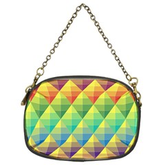Background Colorful Geometric Chain Purse (two Sides) by Wegoenart