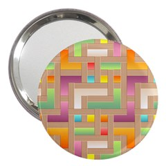 Abstract Background Colorful 3  Handbag Mirrors