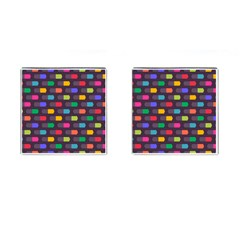 Background Colorful Geometric Cufflinks (square)