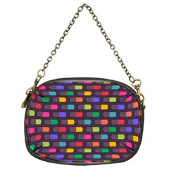 Background Colorful Geometric Chain Purse (two Sides)