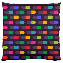 Background Colorful Geometric Standard Flano Cushion Case (two Sides)