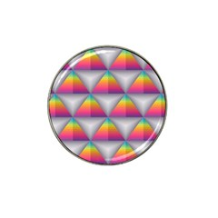 Trianggle Background Colorful Triangle Hat Clip Ball Marker