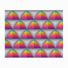 Trianggle Background Colorful Triangle Small Glasses Cloth