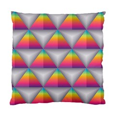 Trianggle Background Colorful Triangle Standard Cushion Case (one Side)