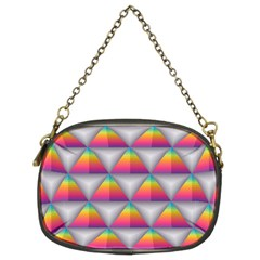 Trianggle Background Colorful Triangle Chain Purse (two Sides)