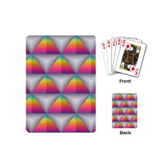 Trianggle Background Colorful Triangle Playing Cards (mini) by Wegoenart