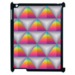 Trianggle Background Colorful Triangle Apple Ipad 2 Case (black)