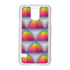 Trianggle Background Colorful Triangle Samsung Galaxy S5 Case (white)
