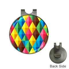 Background Colorful Abstract Hat Clips With Golf Markers