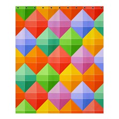 Colorful Geometric Shower Curtain 60  X 72  (medium)