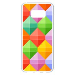 Colorful Geometric Samsung Galaxy S8 Plus White Seamless Case