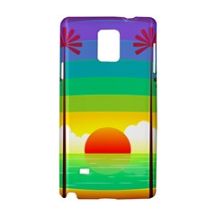 Seaside Sunrise Colorful Ocean Sea Samsung Galaxy Note 4 Hardshell Case