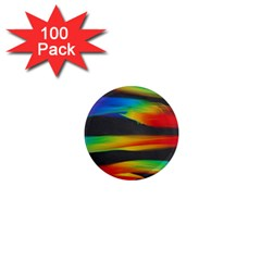 Abstarct Pattern Colorful Background 1  Mini Magnets (100 Pack)