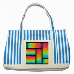 Background Colorful Abstract Striped Blue Tote Bag