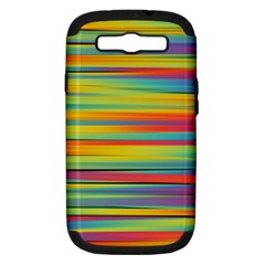 Colorful Background Pattern Samsung Galaxy S Iii Hardshell Case (pc+silicone) by Wegoenart