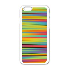 Colorful Background Pattern Apple Iphone 6/6s White Enamel Case